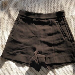 H&M tailored black shorts